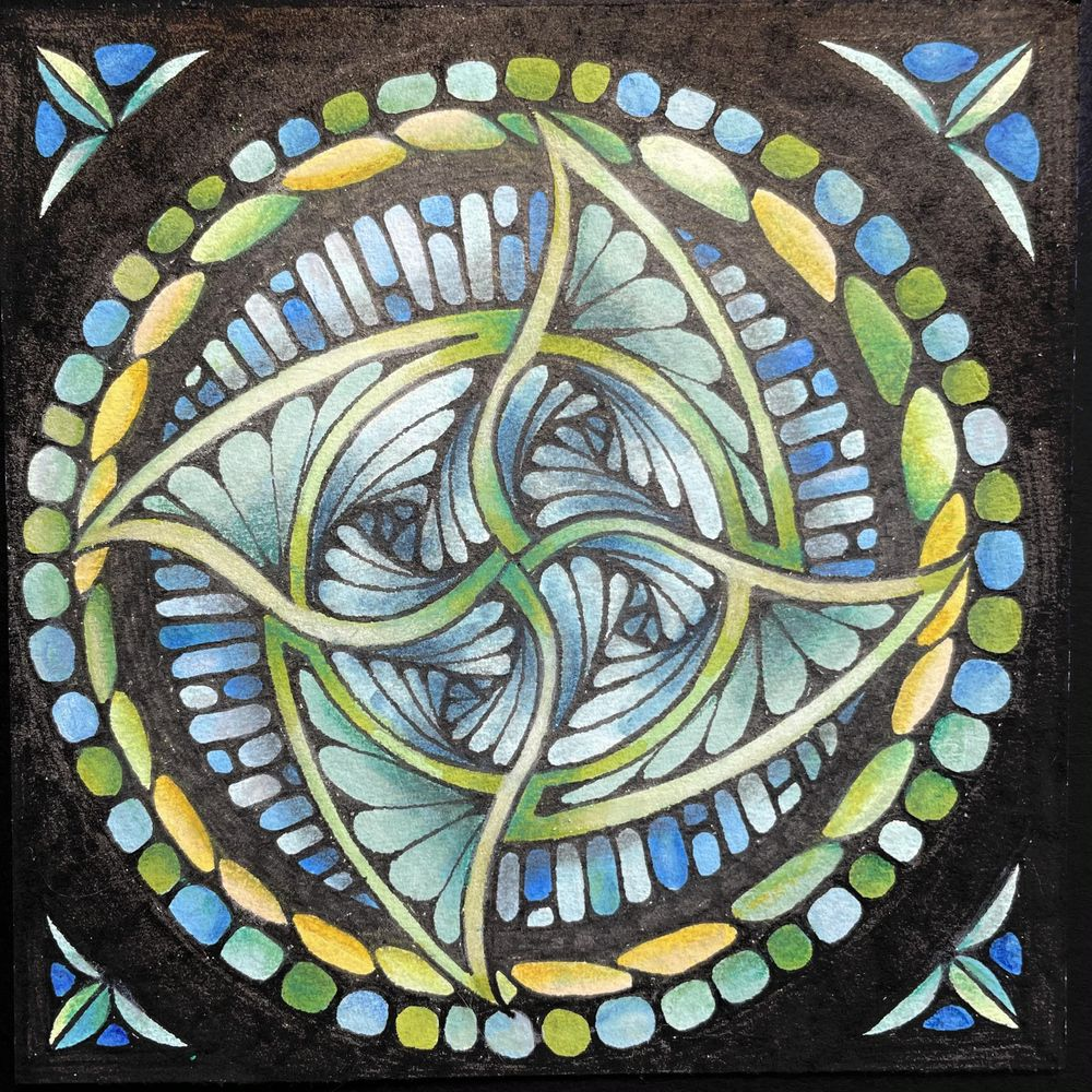 Stained Glass Tangles - image 1 - student project