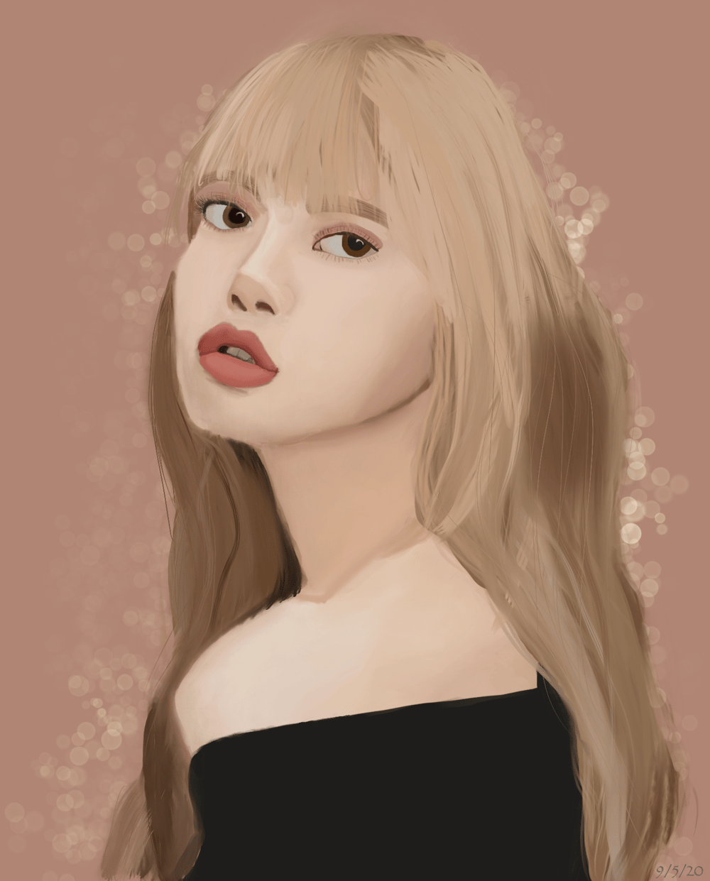 Blackpink's Lisa - My First Digital Drawing - image 1 - student project