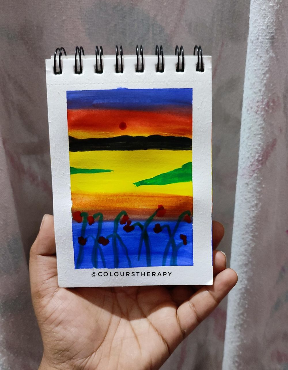 Gouache Sunset Painting - image 1 - student project