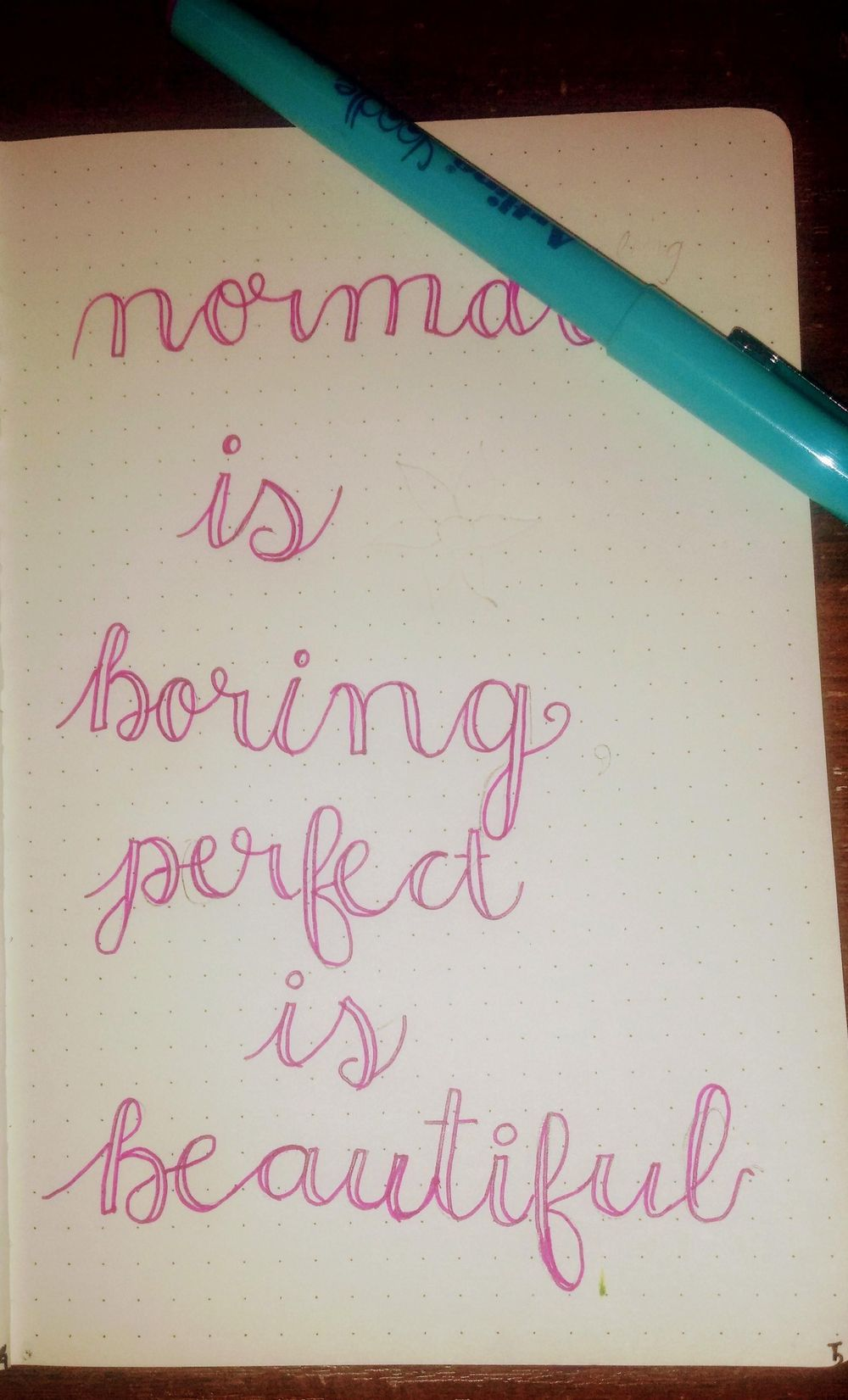 Lettering Quote - image 1 - student project
