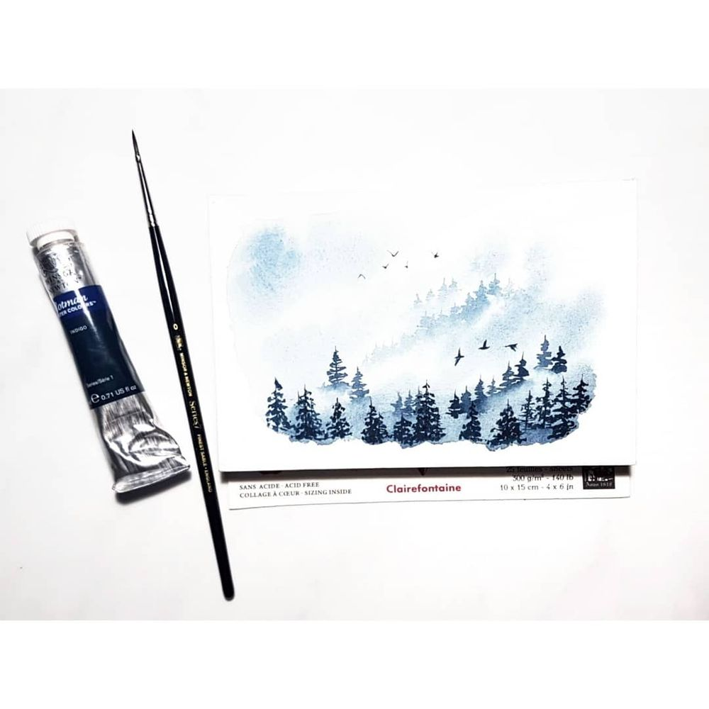 Misty Pine Forest - image 2 - student project