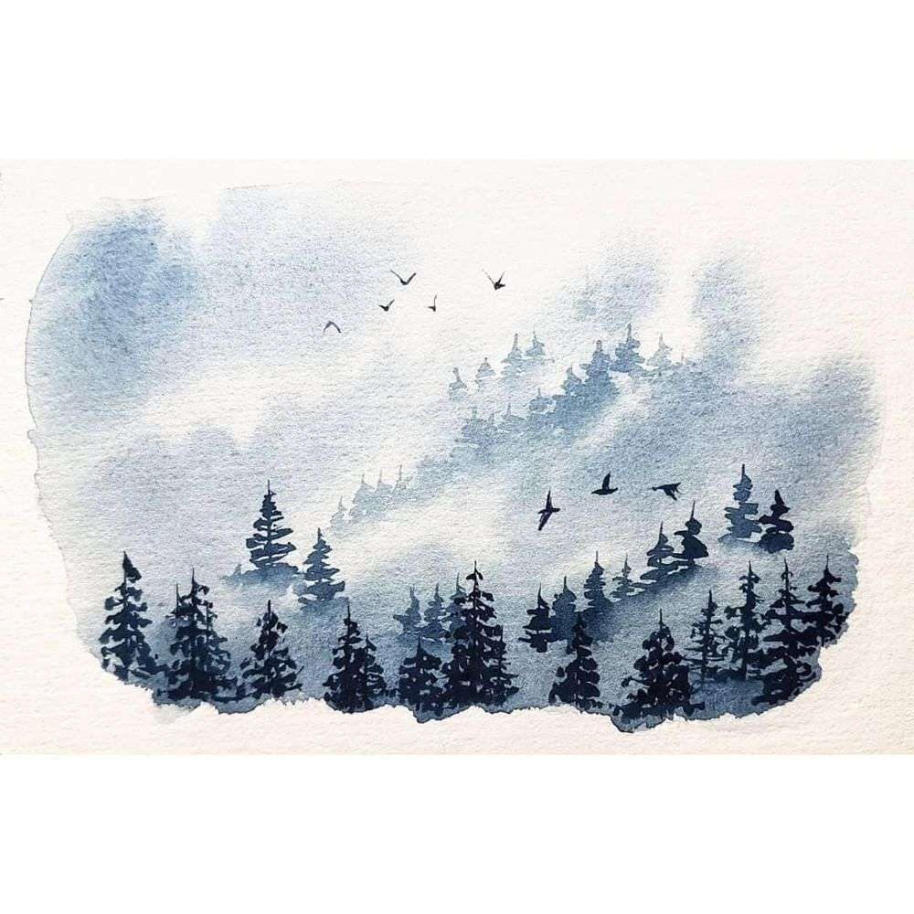 Misty Pine Forest - image 1 - student project