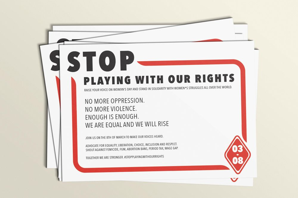 Stop playing with our rights! - image 1 - student project