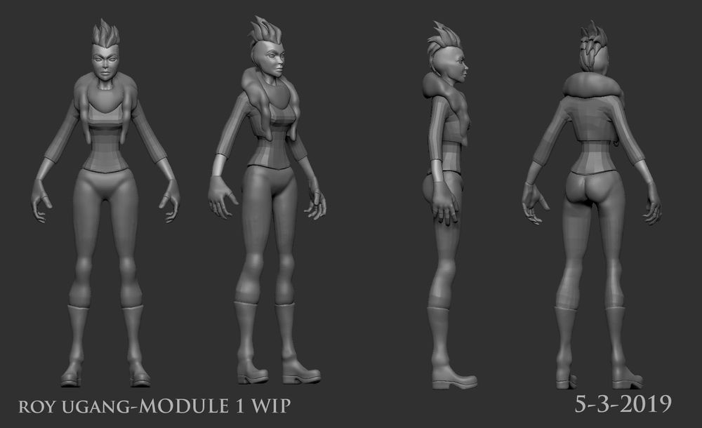 Character Modeling and Texture Class Module 1 - image 2 - student project