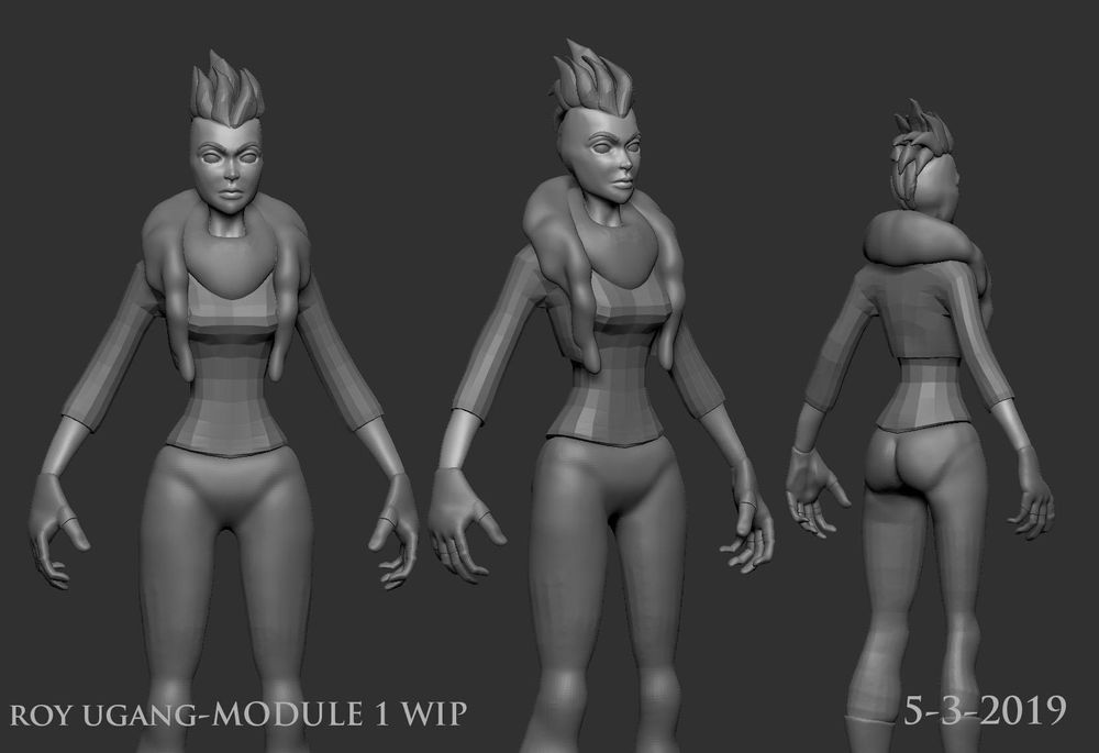 Character Modeling and Texture Class Module 1 - image 1 - student project