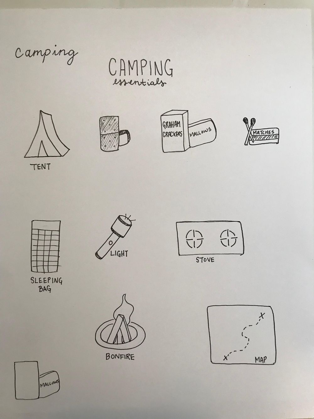 Camping Essentials - image 1 - student project
