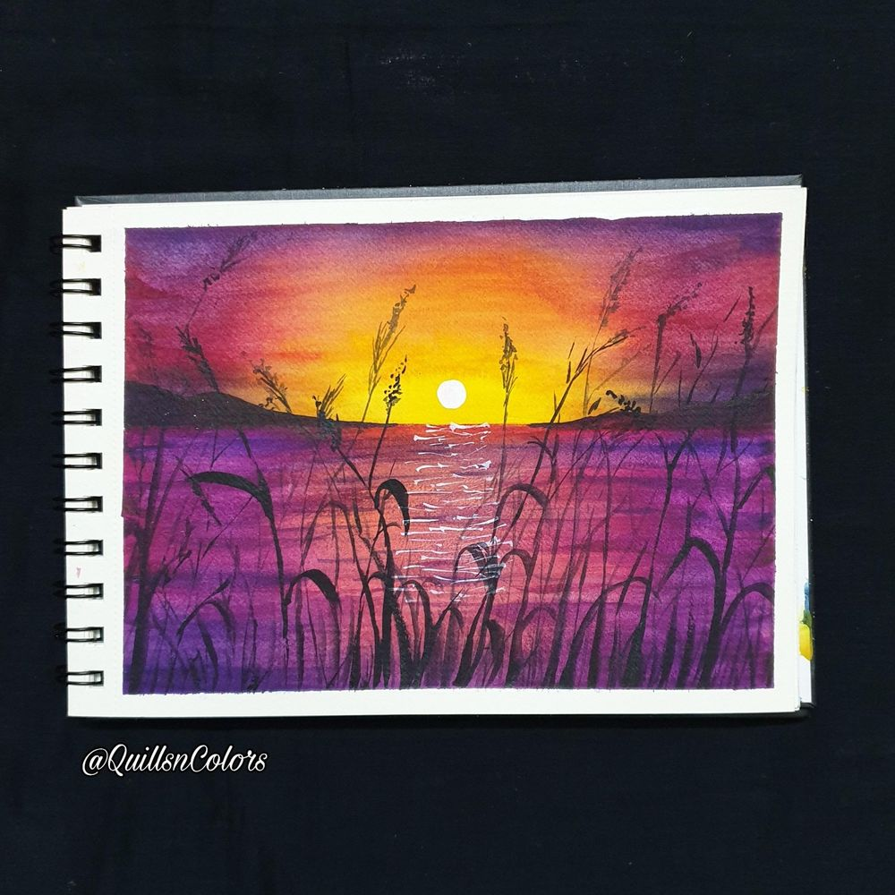 Watercolor Sunset Landscapes - image 4 - student project