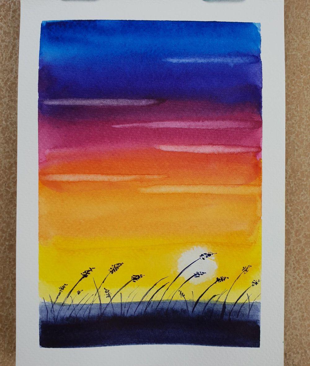 Sunset landscape - image 1 - student project