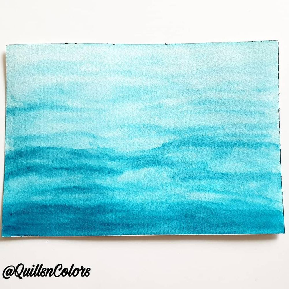 Water study with watercolor - image 2 - student project