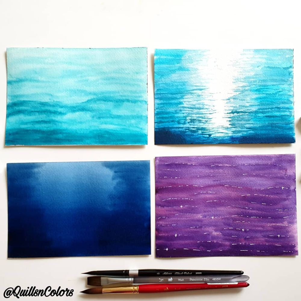 Water study with watercolor - image 1 - student project
