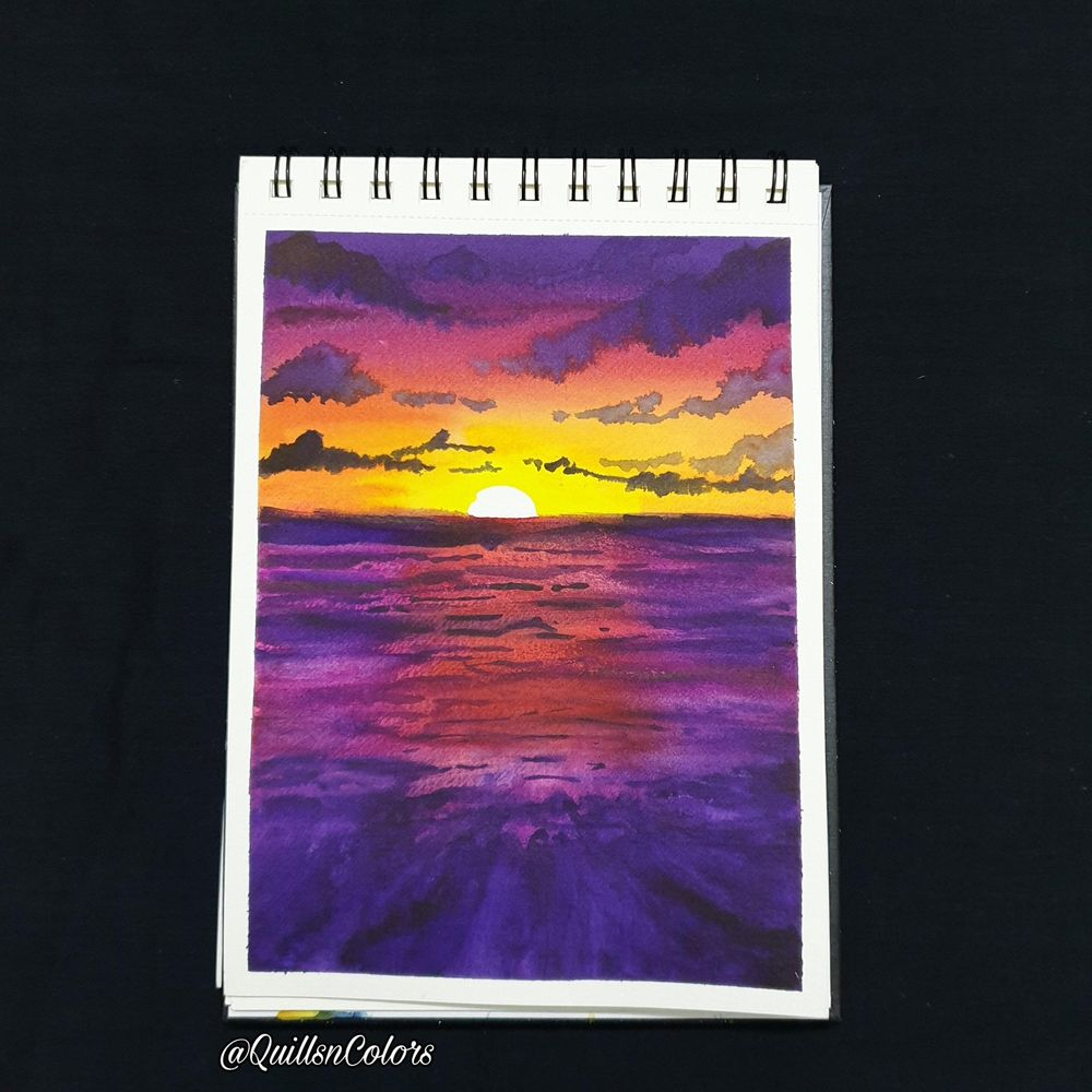 Watercolor Sunset Landscapes - image 5 - student project