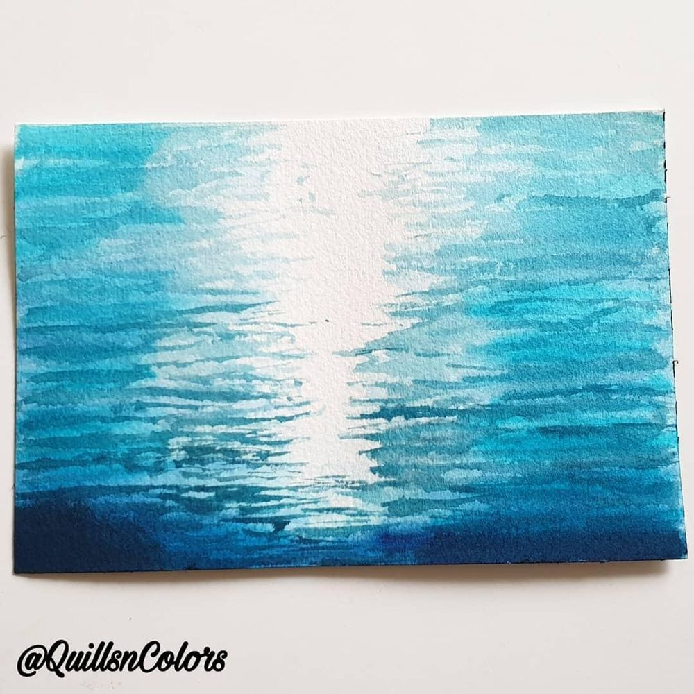 Water study with watercolor - image 3 - student project