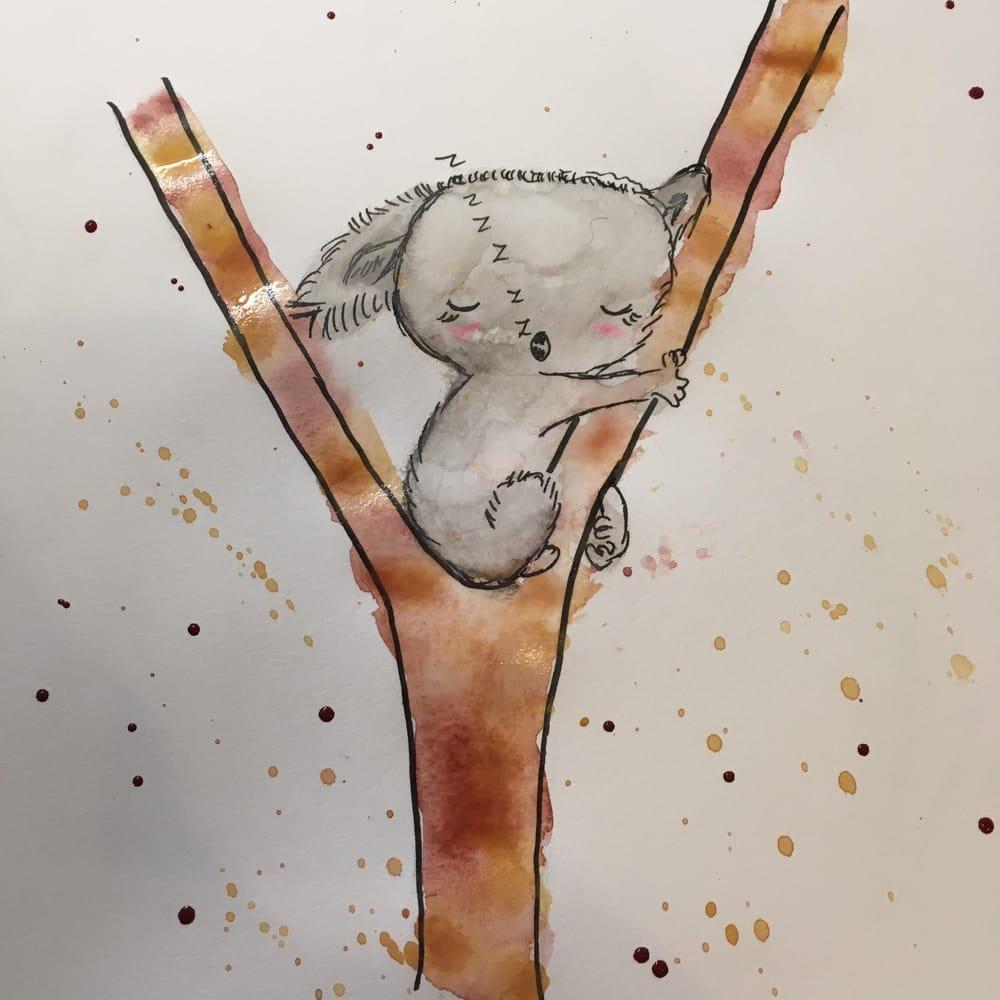 sleeping koala, shy rhino - image 1 - student project