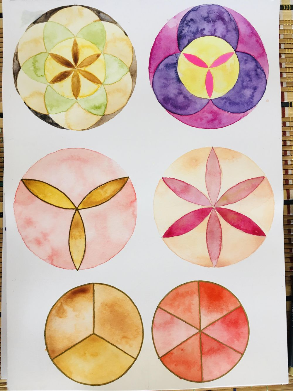 Geometry & watercolour - image 1 - student project
