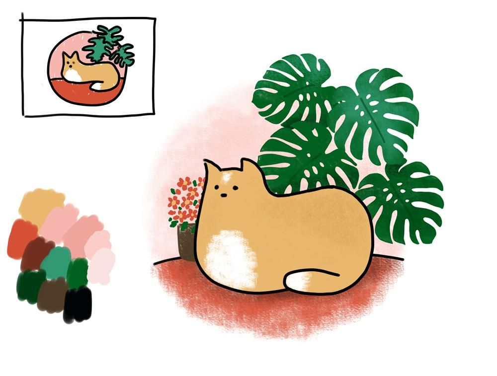 Kitty loves the plants - image 4 - student project