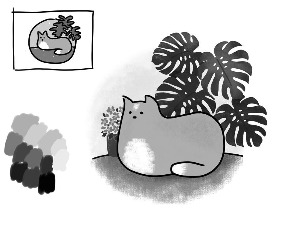 Kitty loves the plants - image 5 - student project