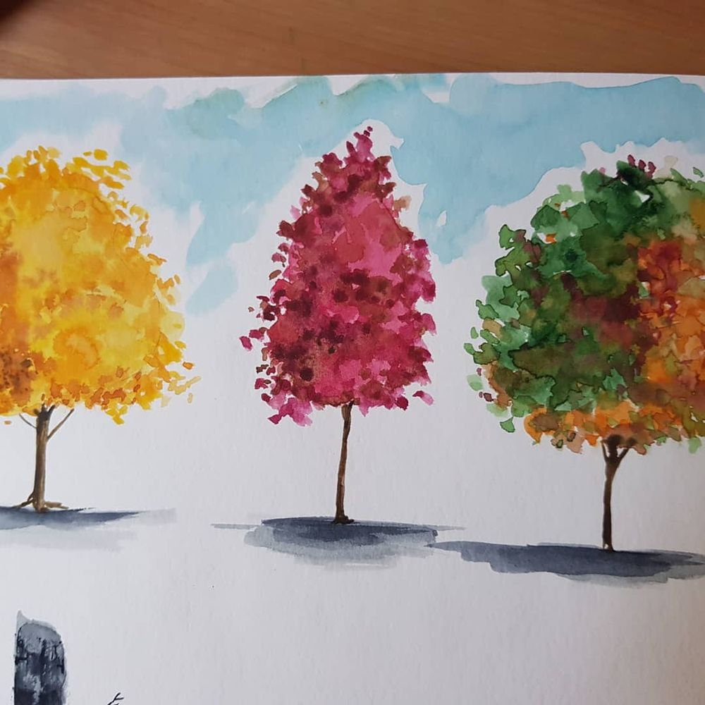 Autumn Trees - image 6 - student project