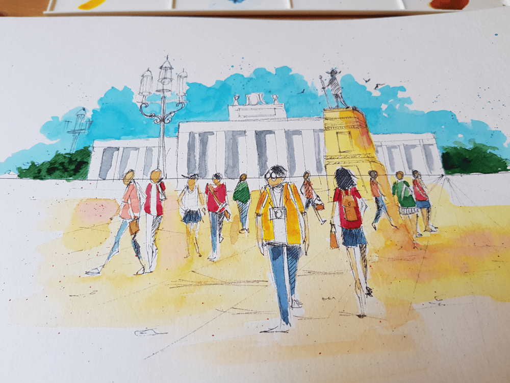 Urban sketches - image 1 - student project