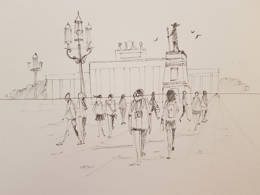 Urban sketches - image 2 - student project