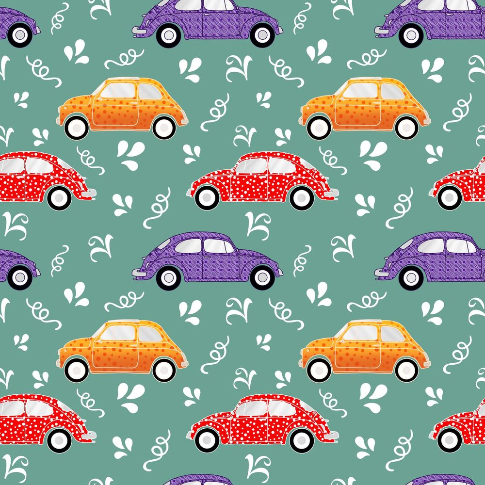 Pattern brushes 101-vintage cars - image 1 - student project