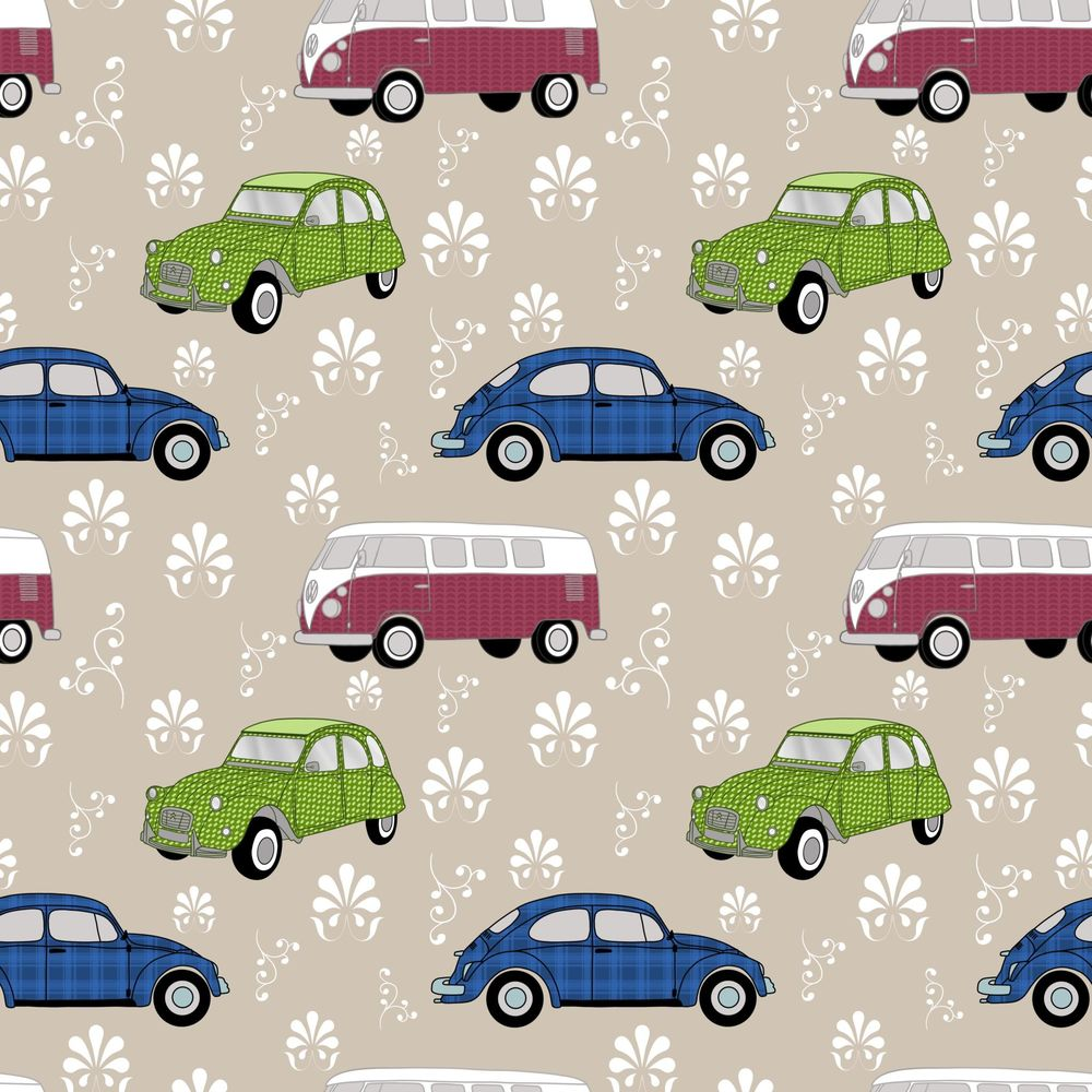 Pattern brushes 101-vintage cars - image 2 - student project