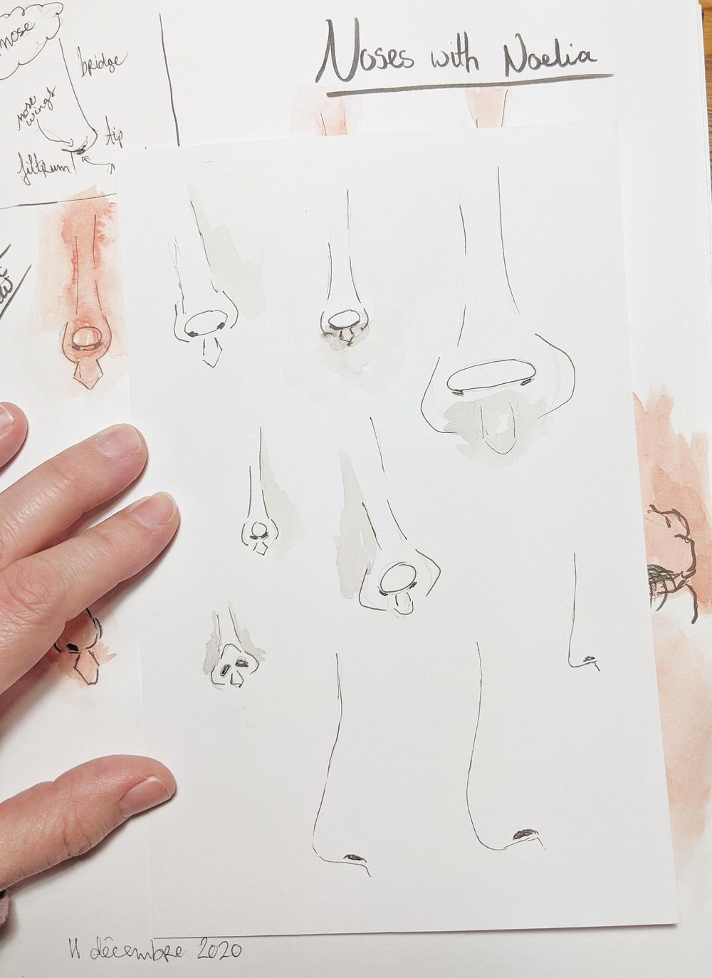 Drawing noses with Noelia - image 1 - student project