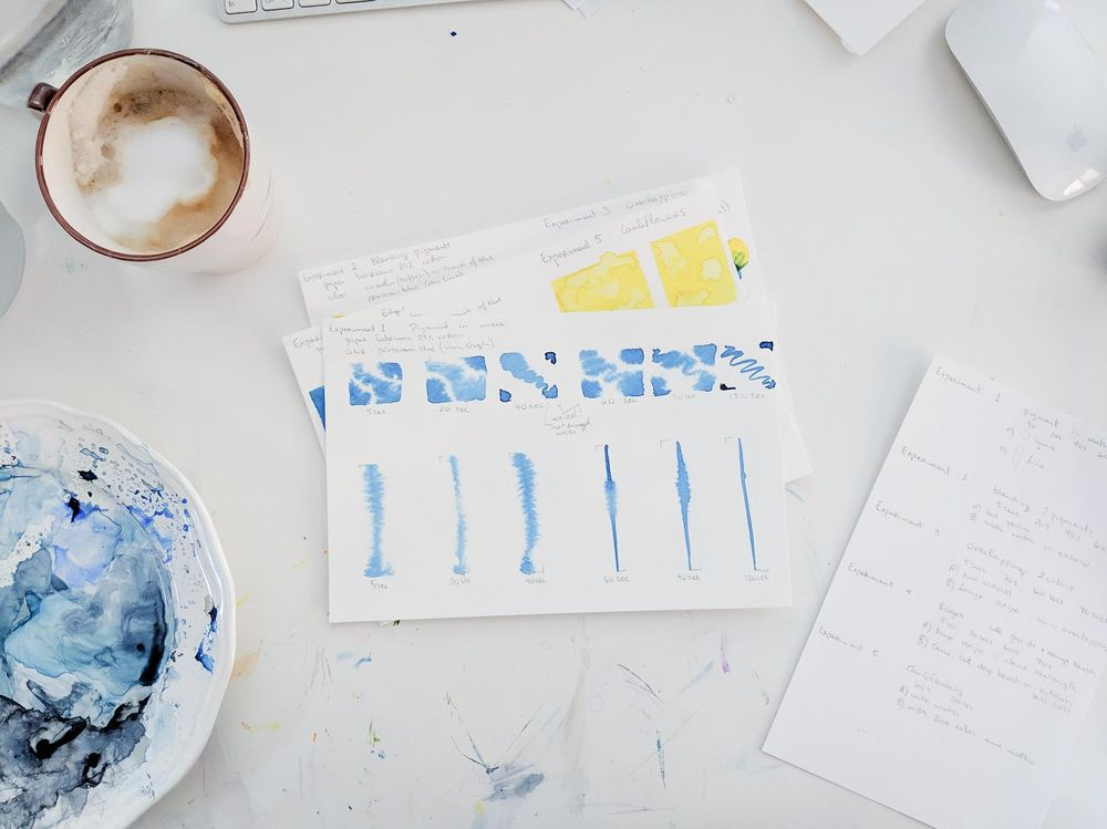 Experiments in watercolors with Ohn Mar Win - image 1 - student project