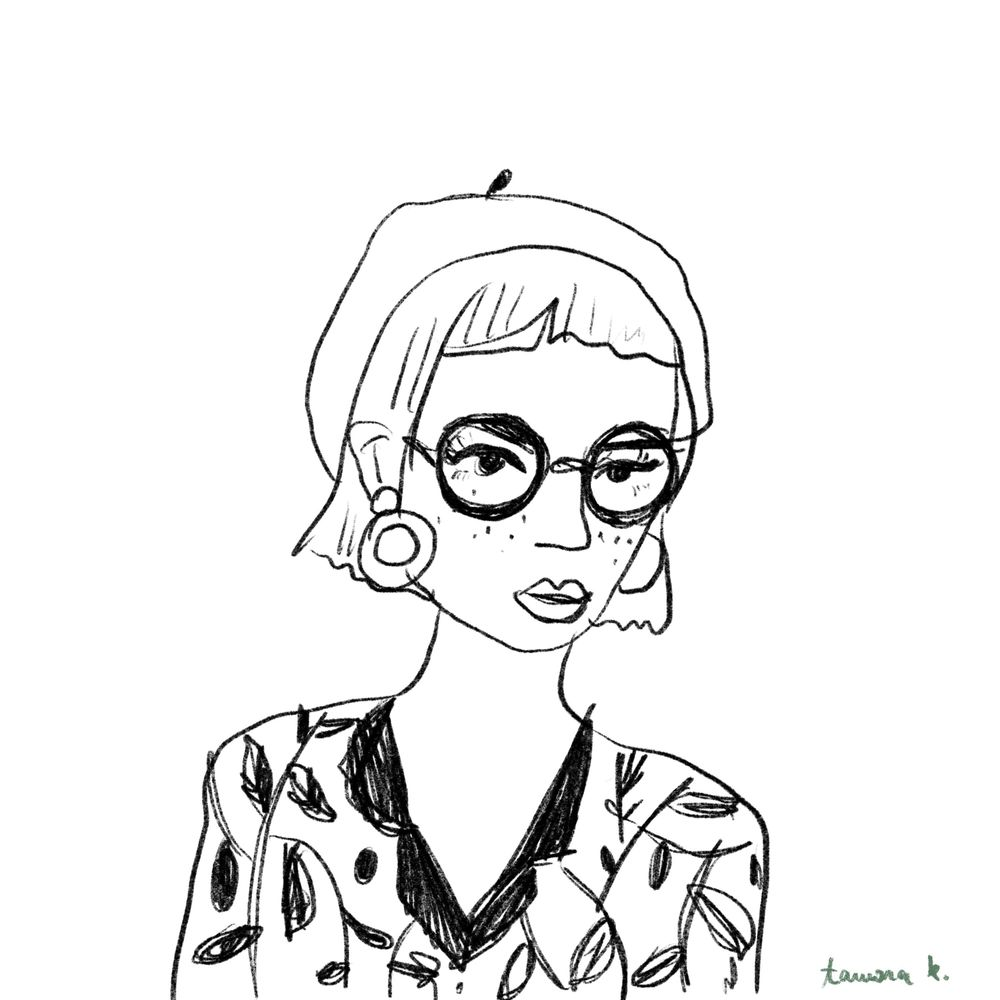 Lady with a beret - image 1 - student project