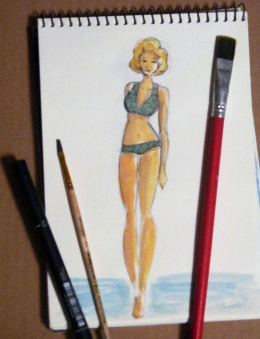 Swimwear Fashion Illustrations - image 3 - student project