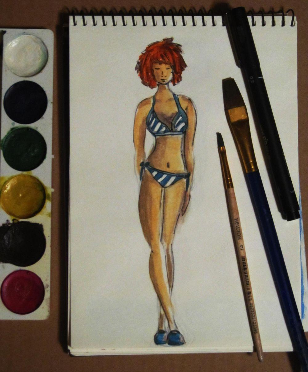 Swimwear Fashion Illustrations - image 1 - student project