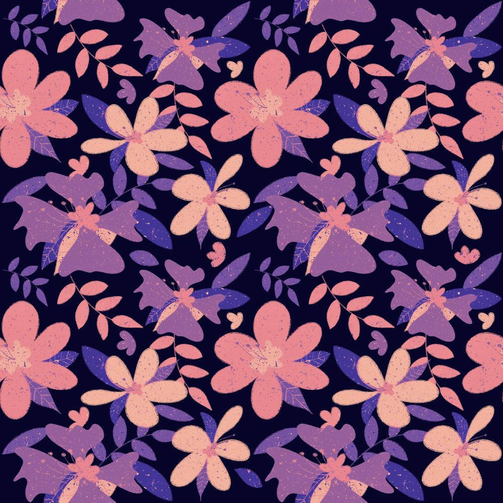 Drawing Seamless Patterns in Procreate - image 2 - student project