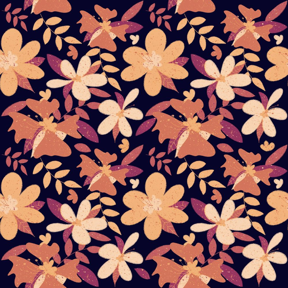Drawing Seamless Patterns in Procreate - image 1 - student project