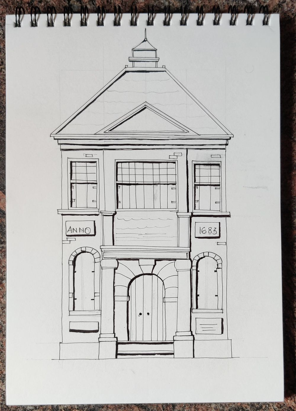 First try on Urban Sketching!! - image 2 - student project