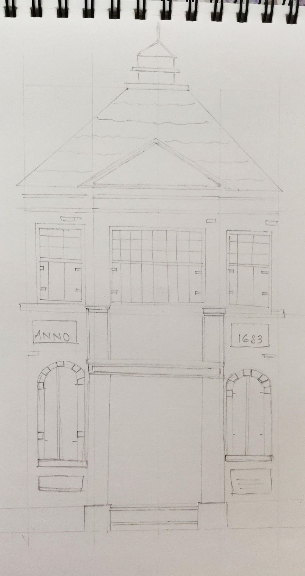 First try on Urban Sketching!! - image 1 - student project