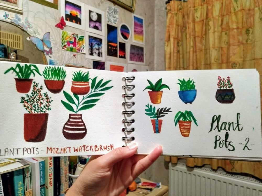 plant pots using waterbrush pens - image 1 - student project