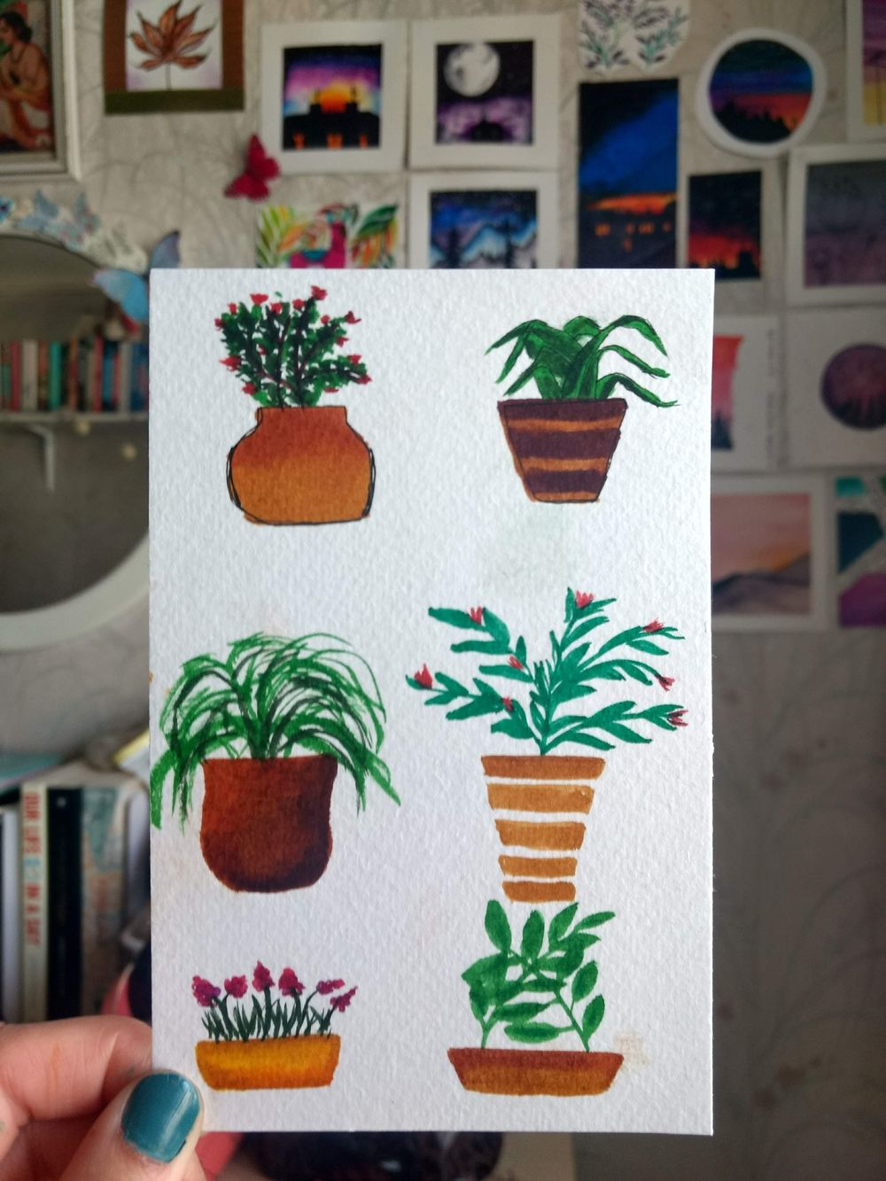 plant pots using waterbrush pens - image 2 - student project