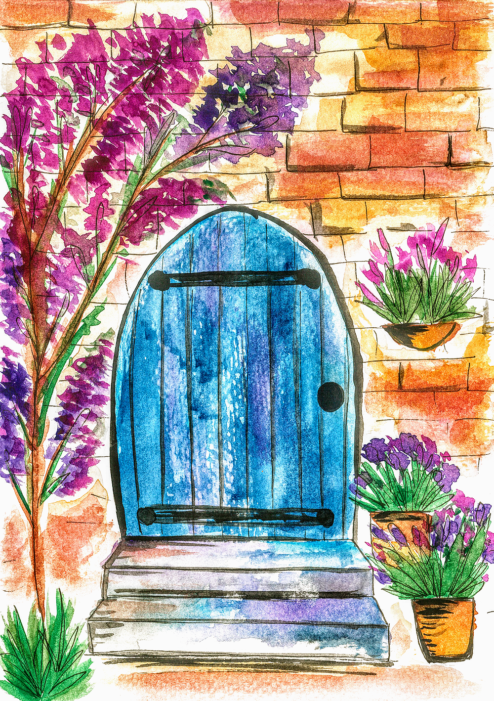 watercolour doors - image 2 - student project