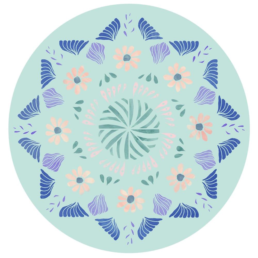 Painted mandala - image 2 - student project