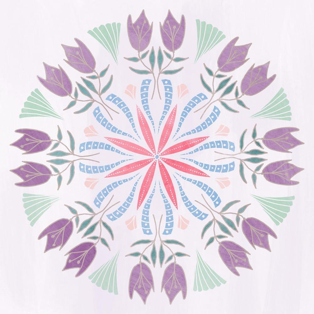 Painted mandala - image 1 - student project