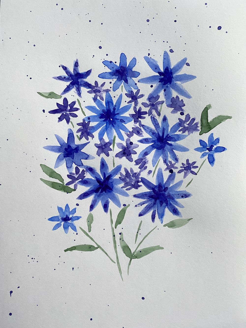 lavender and blue flowers - image 2 - student project