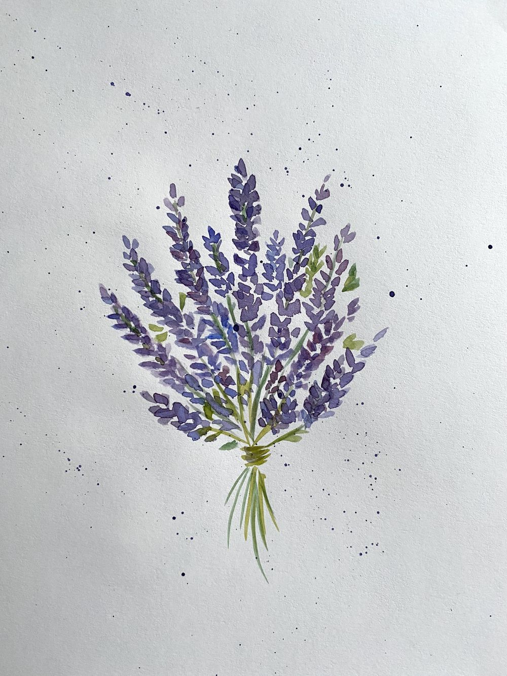 lavender and blue flowers - image 1 - student project