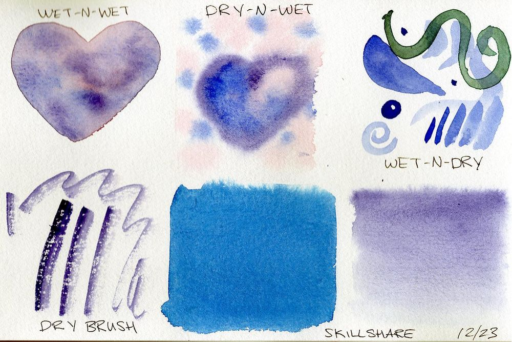 Watercolor Experimentation - image 1 - student project