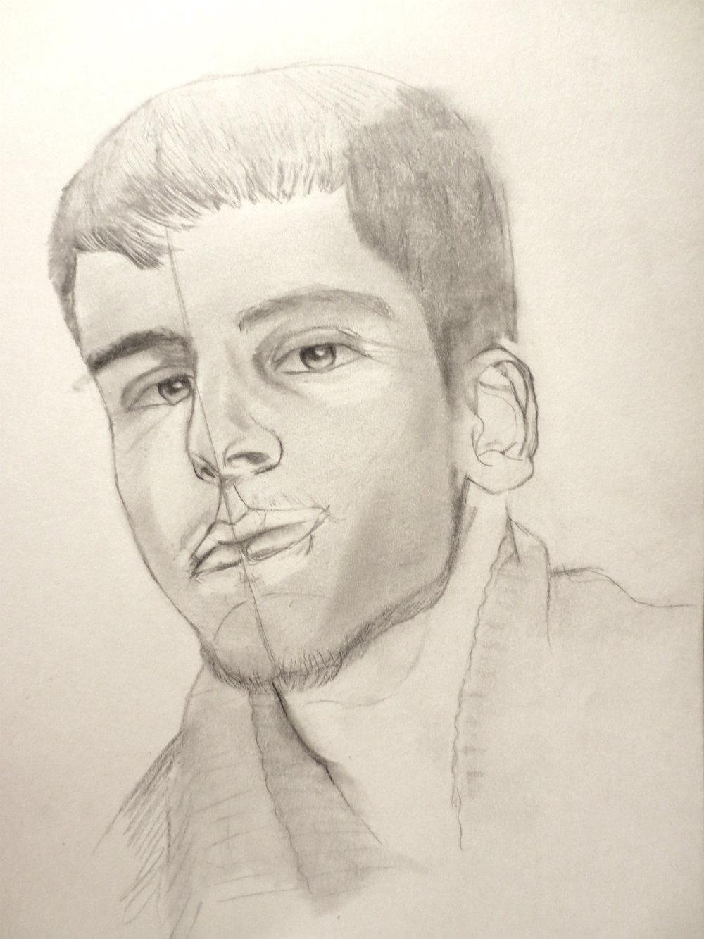 Pencil Portrait - image 2 - student project