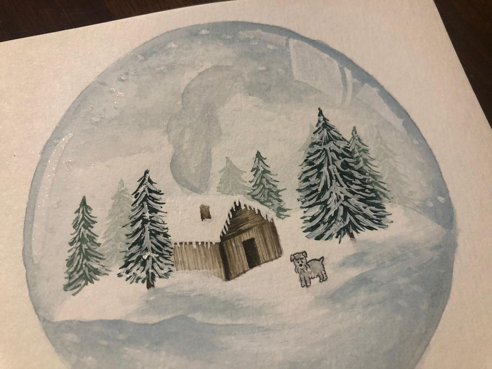 Winter themed Snow Globes - image 3 - student project