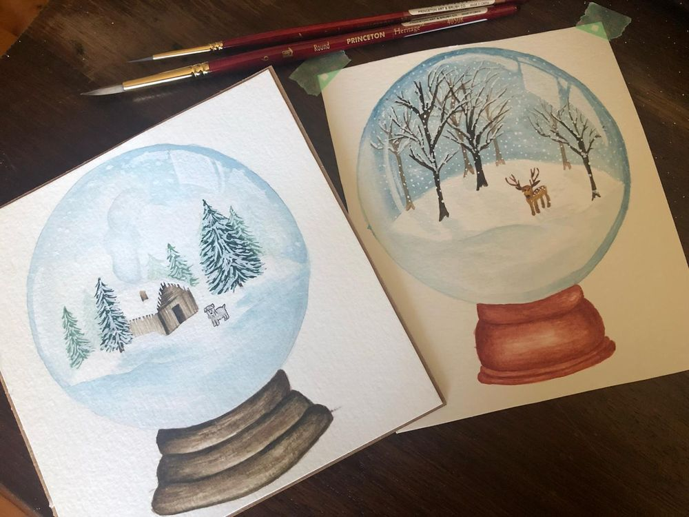 Winter themed Snow Globes - image 1 - student project