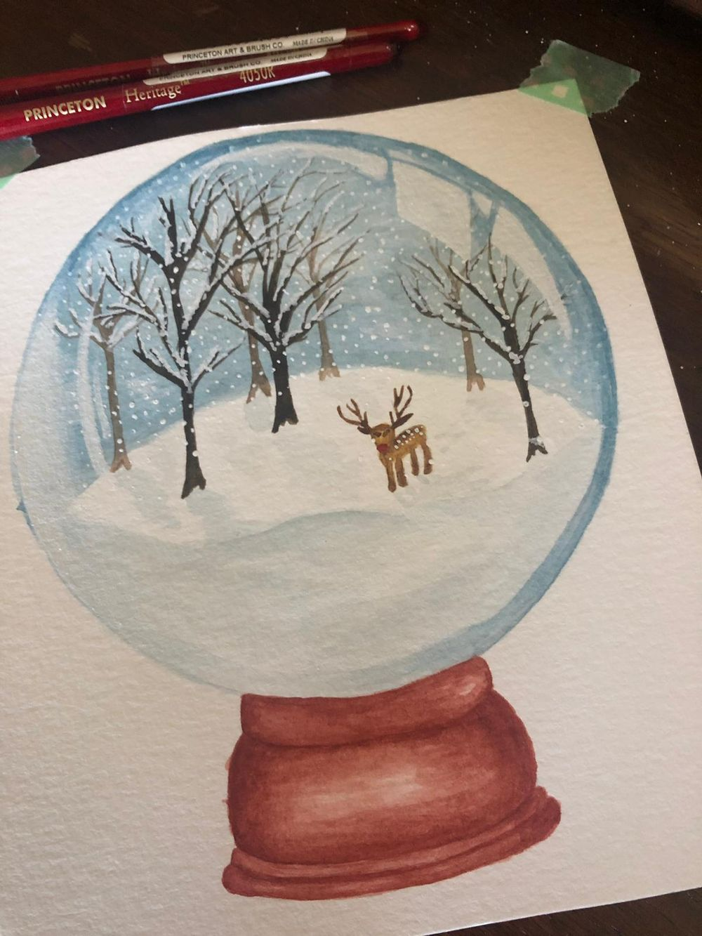 Winter themed Snow Globes - image 2 - student project