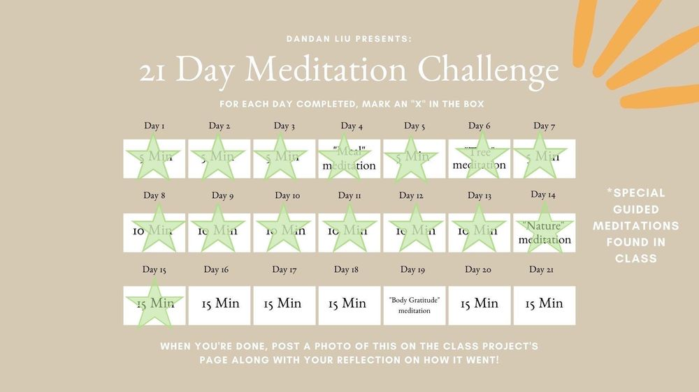 Meditation Challenge - image 1 - student project