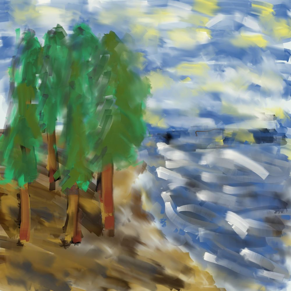 Paint Knife Painting - image 2 - student project