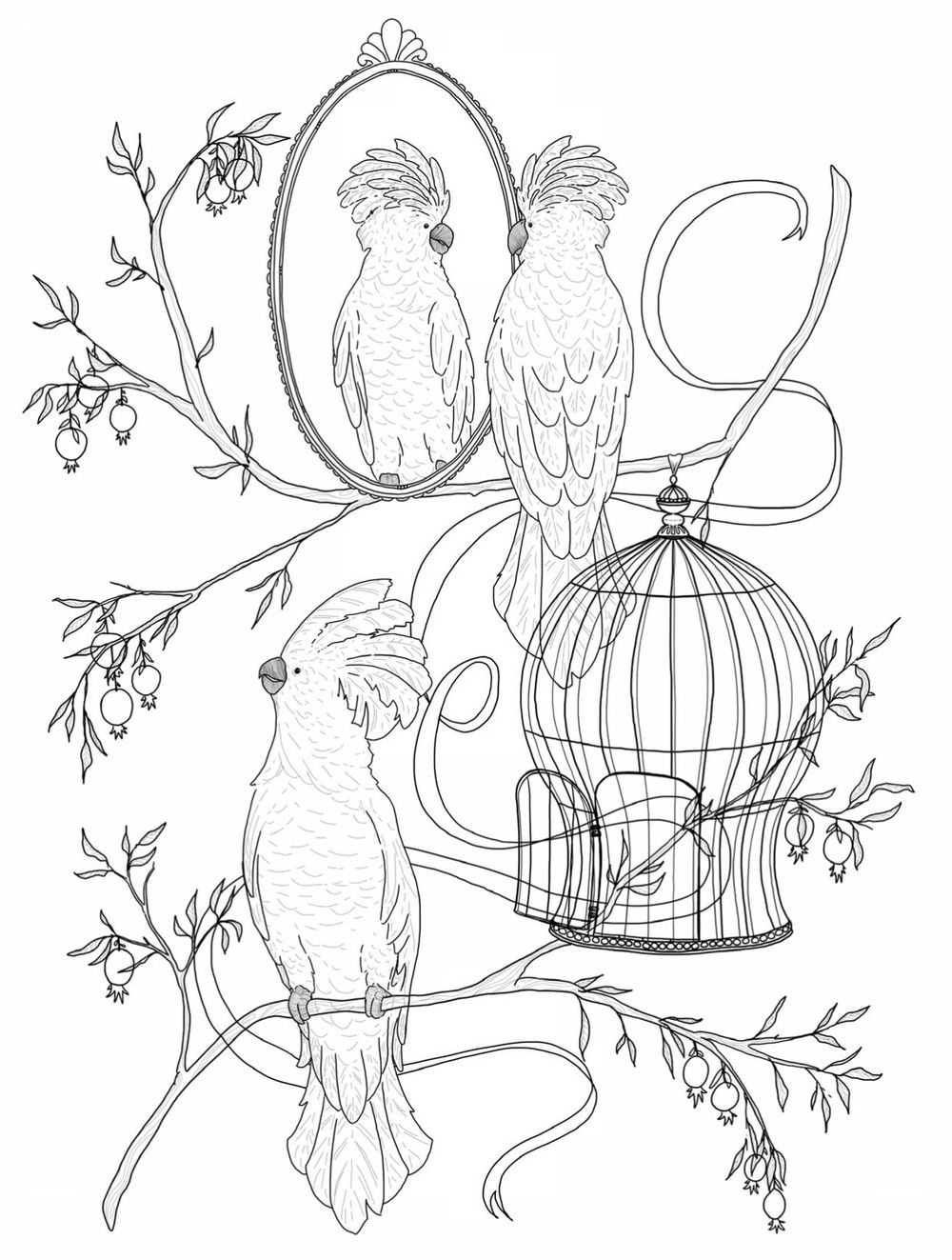 Cockatoo pattern - image 1 - student project
