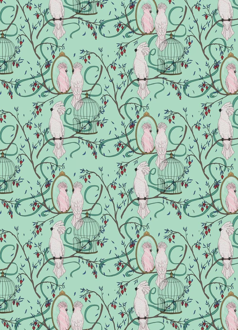 Cockatoo pattern - image 3 - student project